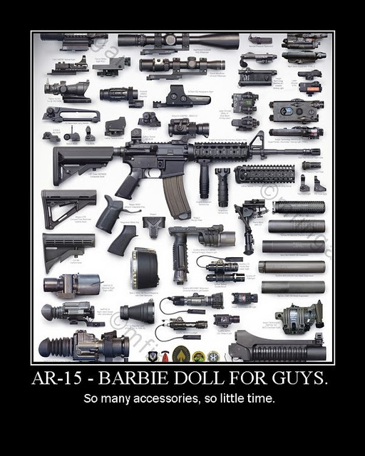 AR-15 Barbie Doll for Guys