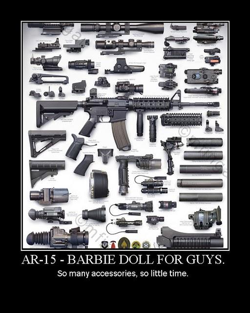 AR-15 Barbie Doll for Guys
